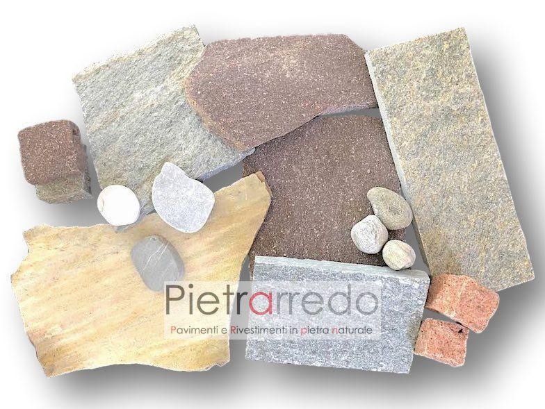 pavimenti in pietra naturale selciati vialetti piazzali esterni interni prezzo costi pietrarredo