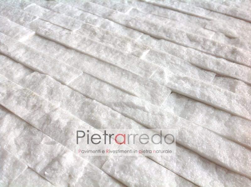 Quarzite-bianca-prezzo-€-offerta-brillatinata-pietra-rivestimento-parete-liste