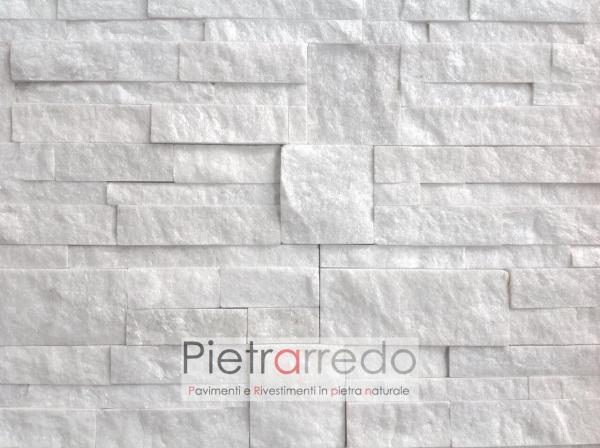 Rivestimento-pietra-quarzite-bianca-scozzese-18x35cm-white-shine-stone-cladding-panel-marble-bianco-costo-prezzo