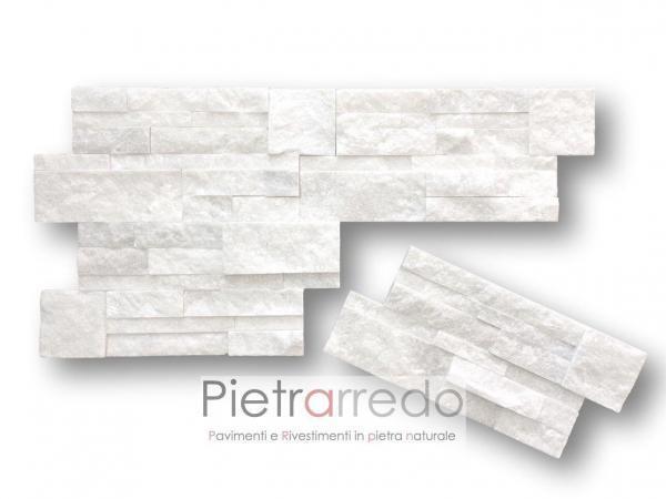 Rivestimento-pietra-quarzite-bianca-scozzese-pietrarredo-shine-brillantinata-cladding-panel-marble-bianco-prezzo-offerta