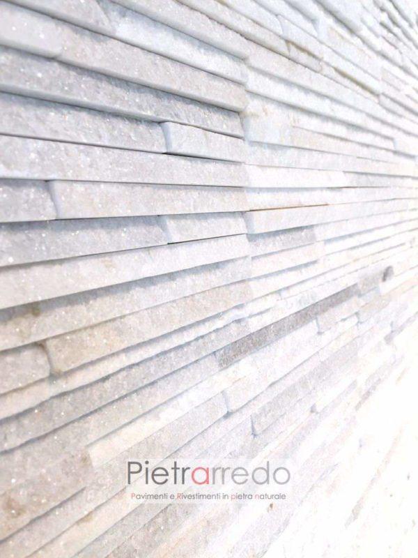 Rivestimento-quarzite-bianca-ghiaccio-white-brillantinata-prezzo-pietra-ricostruita-naturale-prezzo