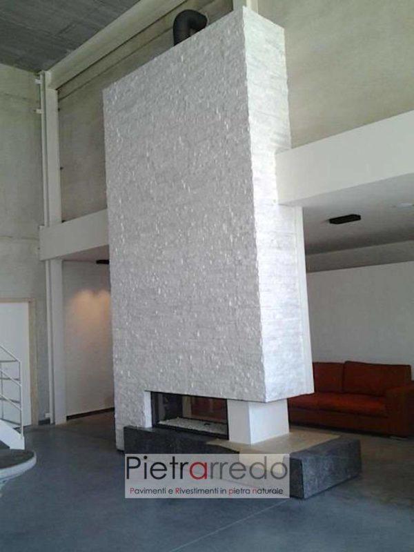 camini-moderno-rivestimento-pietra-ricostruita-naturale-bianca-brillante-pietrarredo-milano
