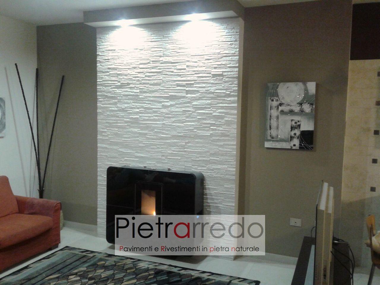 Pietre Bianca Per Interni rivestimento pietra quarzite bianca slim -50% costo €62/mq