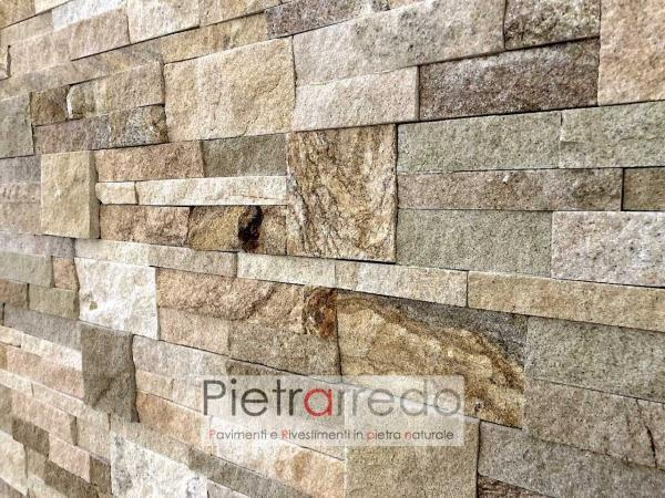 costo per rivestimento placche decorative mattonelle in pietra vera arenaria scozzese pietrarredo milano prezzo offerte per muri stone wall