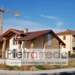 facciata-villa-rivestita-mattonelle-pietra-liste-marrone-beige-arenaria-design-costi-pietrarredo