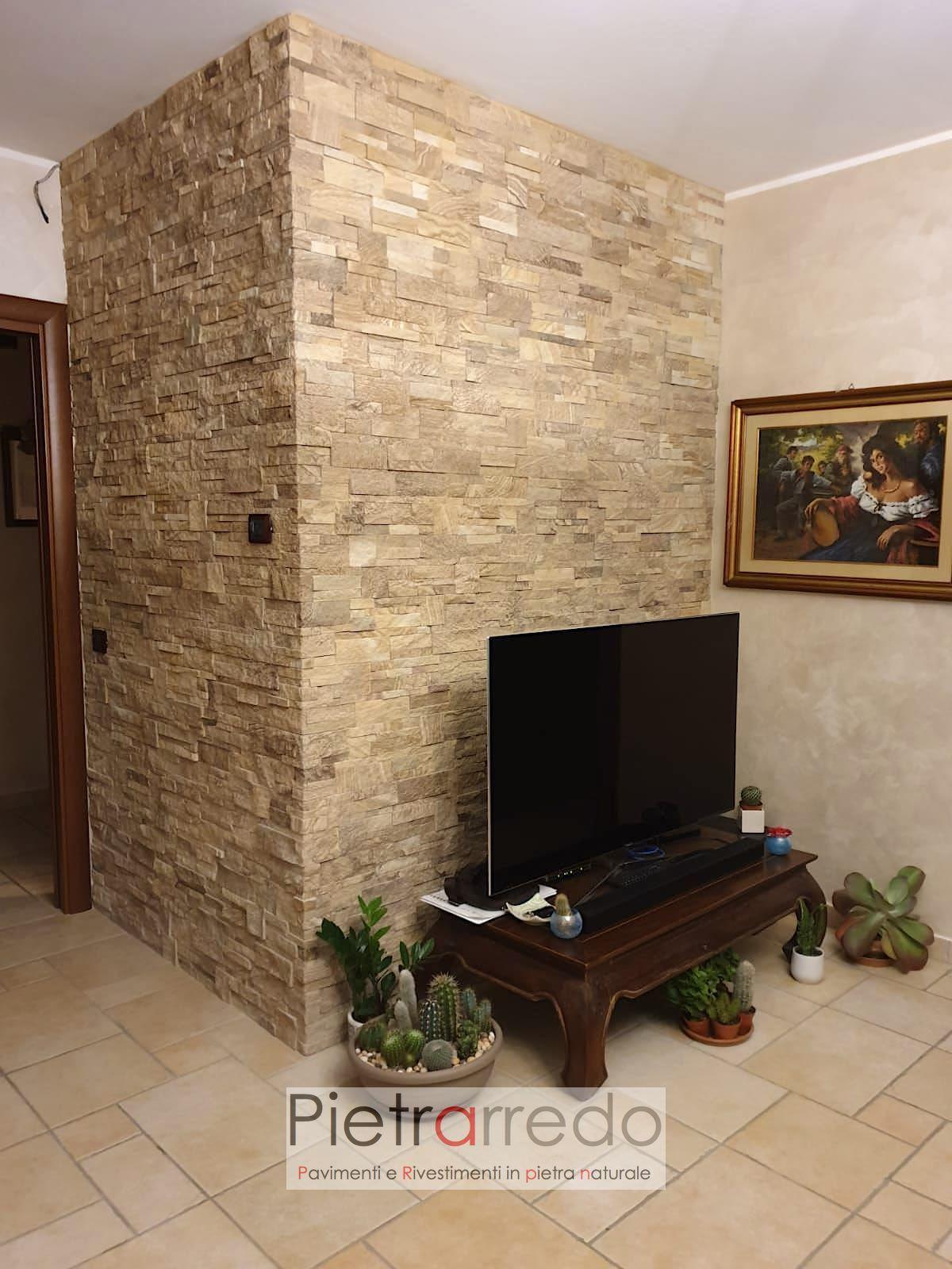 listelli in sasso da parete pietra arenaria scozzese pietrarredo milano offerta muro soggiorno beige