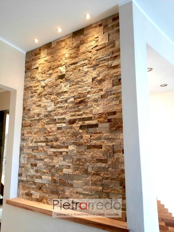 nicchia e quadro in pietra arenaria scozzese pietrarredo milano prezzo mq beige sandstone