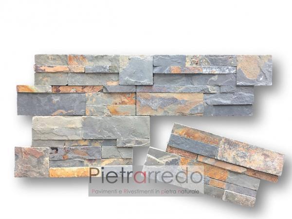 pietrarredo-rivestimento-spaccatello-pietra-ardesia-multicolor-foglia-autunno-prezzo-stone-panel-price-rust-offert