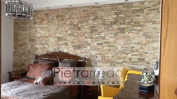 prezzo e offerta parete rivestita con pannelli in pietra naturale vera arenaria scozzese pietrarredo milano