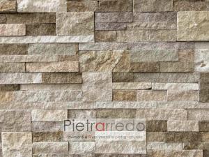prezzo rivestimento in pietra naturale arenaria scozzese pietrarredo milano costo stone wall proice pannel italy