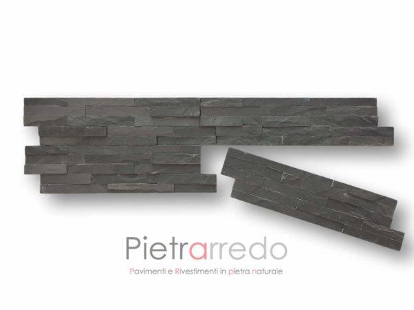 rivestimenti-muretto-spaccatello-ardesia-nera-black-pietra-ricostruita-naturale-spaccatello-listelli-pietrarredo-milano