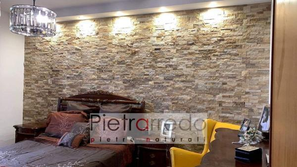 rivestimento in pietra naturale per pareti arenaria scozzese camera matrimoniale prezzi offerta pietrarredo