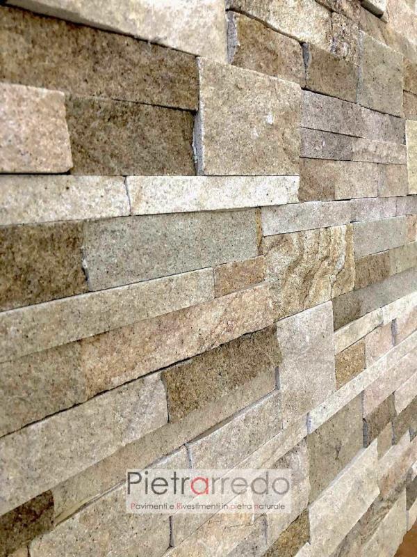 rivestimento in pietra naturale pietraredo arenaria scozzese beige scagla offerta placca decorativa stone wall