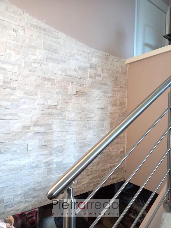 rivestimento in pietra vera naturale white extra pietrarredo milano price stone wall