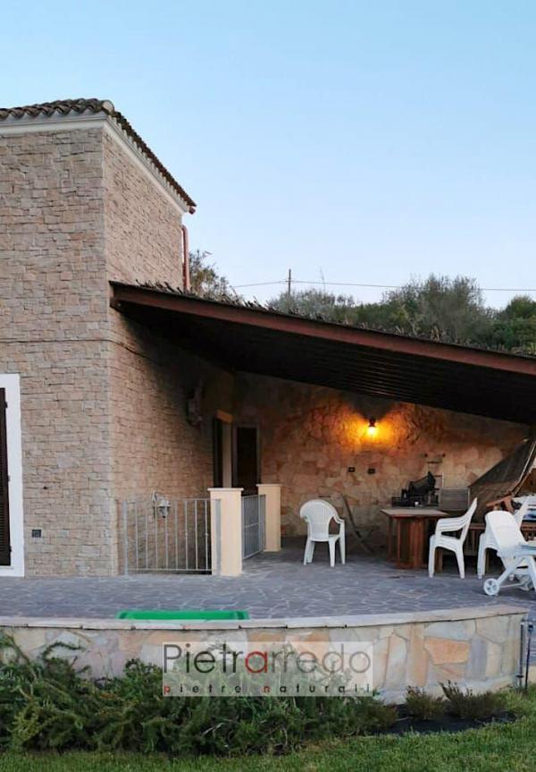 rivestimento in sasso granito sardo granito beige pietrarredo prezzo per facciate pareti casa villa