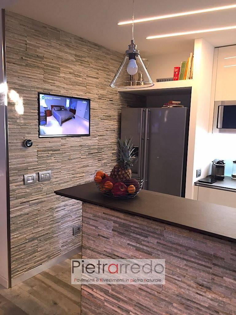 rivestimento-parete-cucina-muro-pietra-ricostruita-naturale-quarzite-mista-slim-prezzo-costo-soggiorno-milano