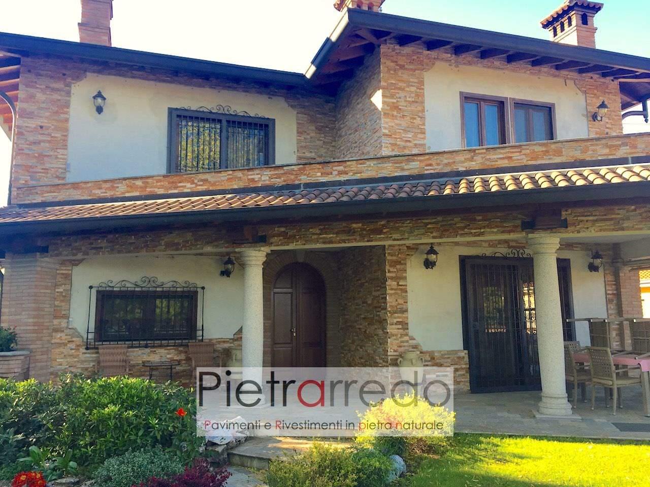 Rivestimento pietra quarzite rossa 50 in offerta 63 90 mq - Costo ristrutturazione casa milano ...