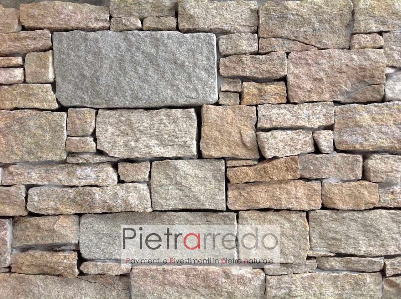 rivestimento pietra granito beige 50 pietrarredo offerta 87 mq. Black Bedroom Furniture Sets. Home Design Ideas