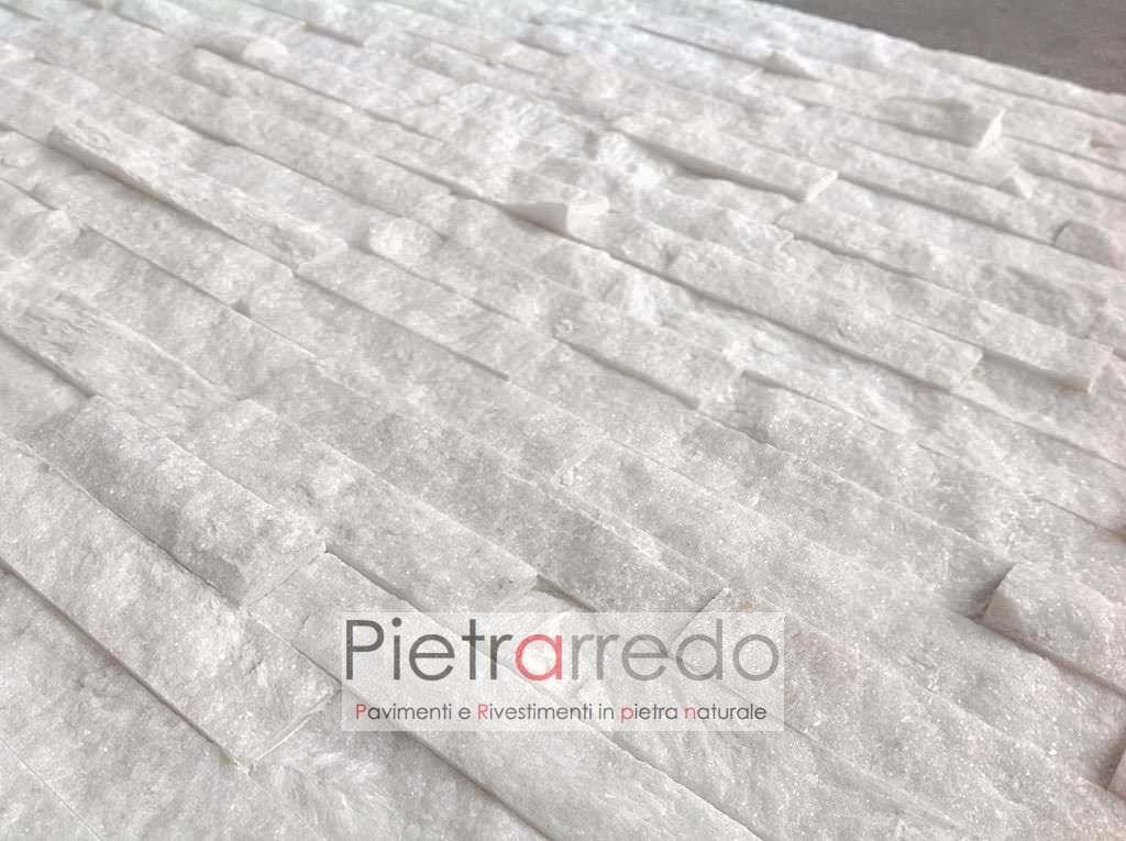 Rivestimento scaglia bianca white ghiaccio u ac mq