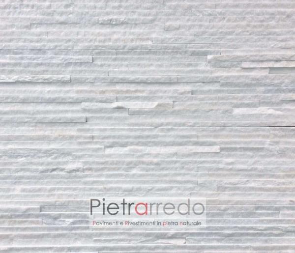 rivestimento-pietra-quarzite-bianca-slim-costo-prezzi-pietrarredo-milano-white-ghiaccio-stone-panel-shine-price