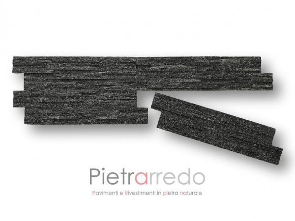 rivestimento-pietra-quarzite-nera-slim-luccicante-brillantinata-costo-prezzo-pietrarredo-milano-placca