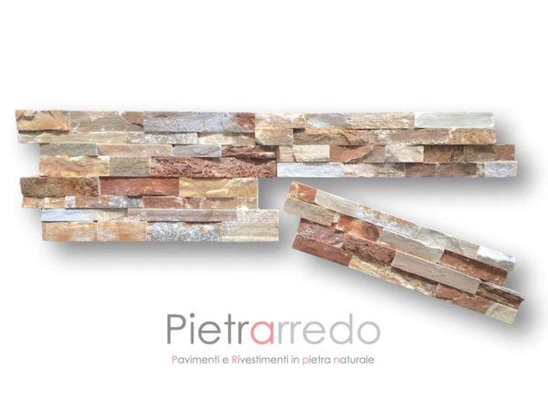rivestimento-pietra-quarzite-rossa-spaccatello-muretto-listelli-prezzo-costo-metro-quadro-milano