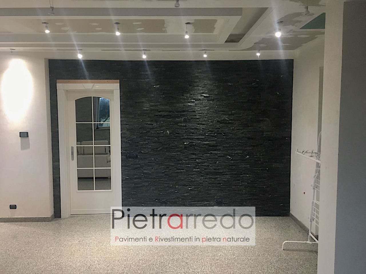 Rivestimento Pietra Quarzite Nera -50% - Pietrarredo A € 48,90/MQ