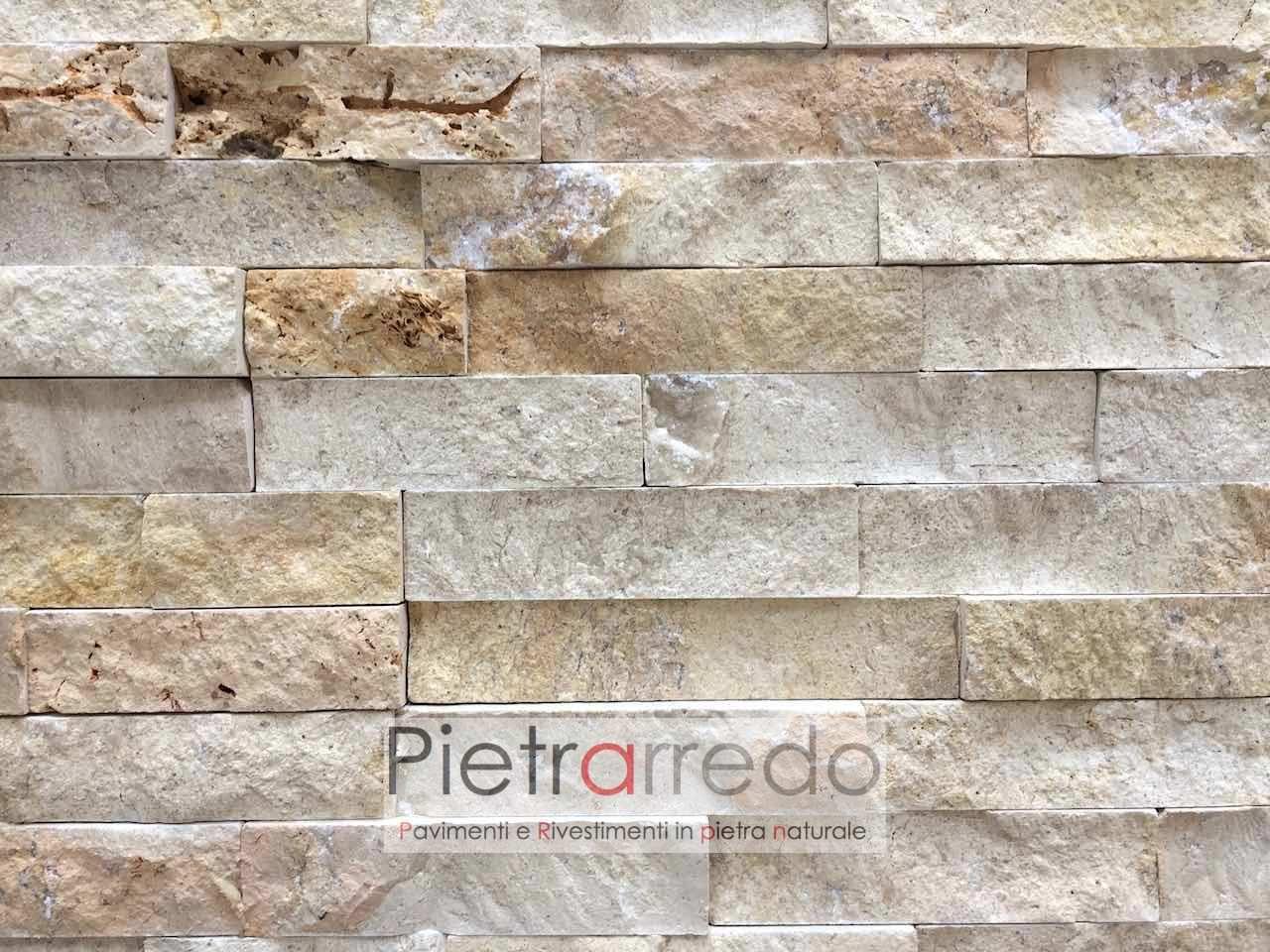 Rivestimento in pietra travertino 50 offerta 66 mq - Rivestimenti per esterno in pietra ...