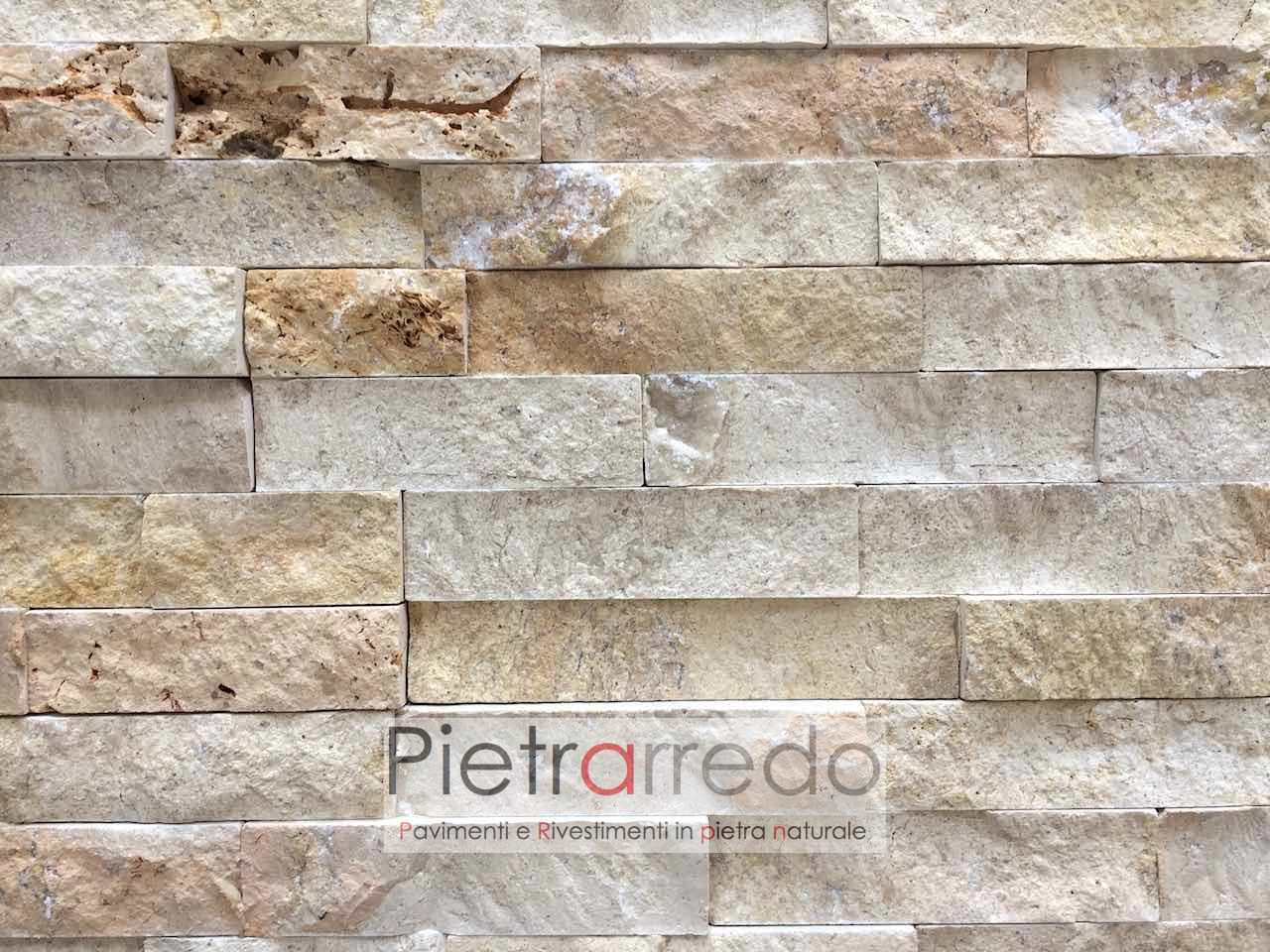 Rivestimento in pietra travertino 50 offerta 66 mq - Rivestimento per esterno in pietra ...