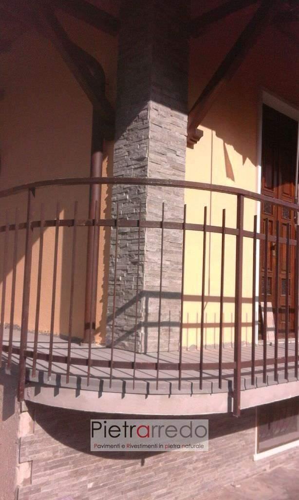 rivestimento-pilastro-pietra-quarzite-grigia-pietrarredo-milano-listelli