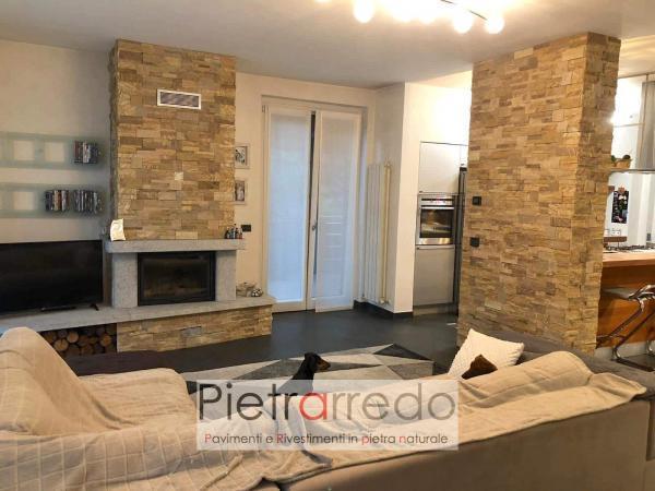 sala e parete in pietra offerta placche decorative muretti pietrarredo arenaria scozzese prezzo