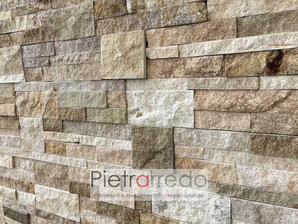 scagla in pietra per rivestimento facciata prezzo arenaria scozzese beige misto bella stone design wall offerta