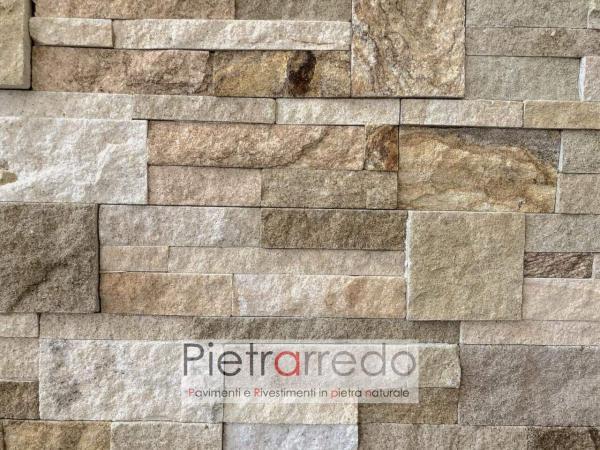 stone wall arenaria scozzese pietrarredo milano costo offerta colore beige marrone per pareti e facciate