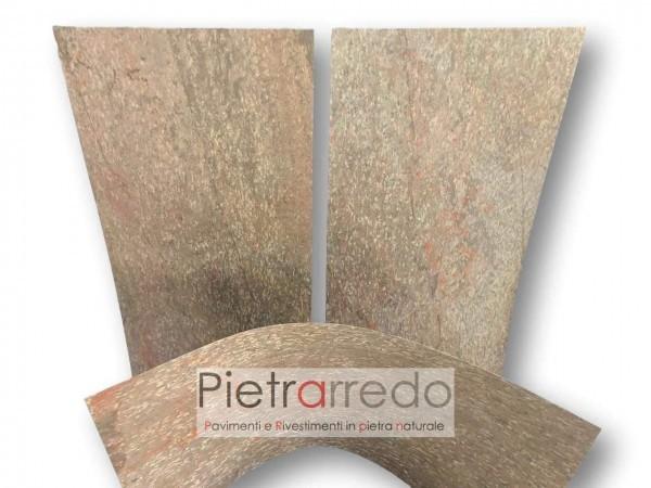 Foglio flessibile in pietra naturale golden per pareti facciate flexstone camini muri cucine bagni salotti interni esterni prezzi formica