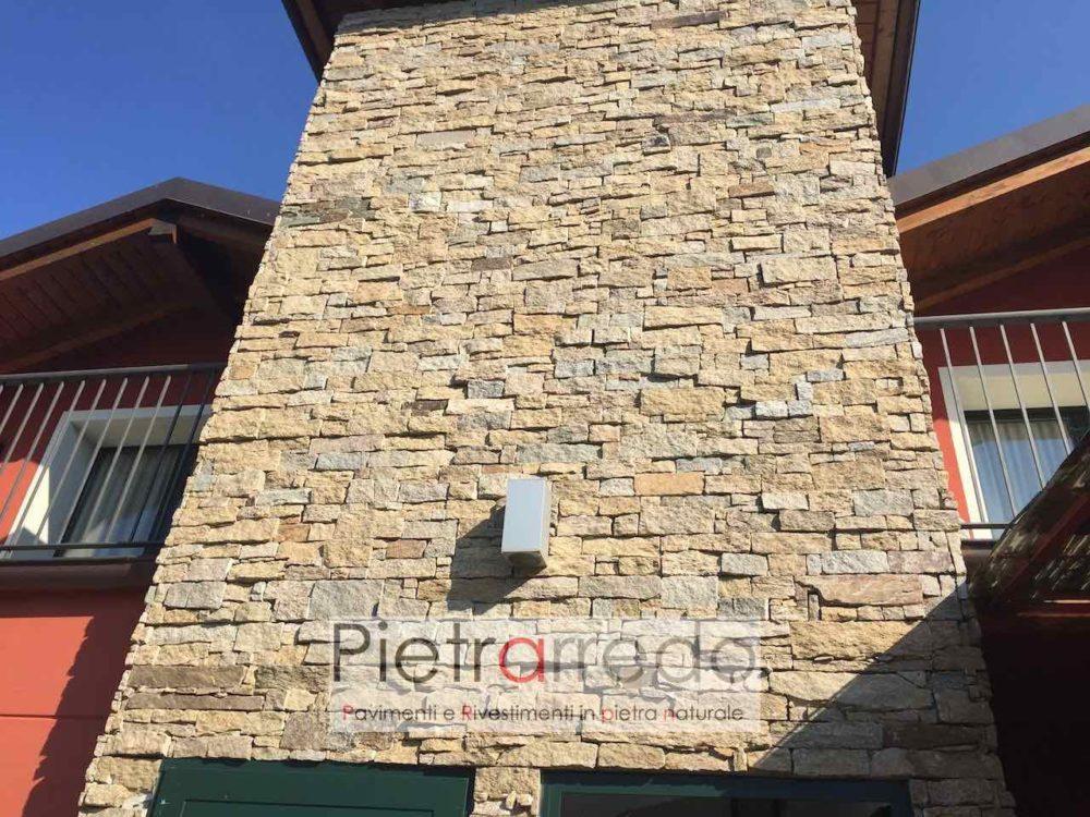 Rivestimento in pietra granito beige per muri e facciate prezzi pietrarredo milano