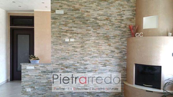 Rivestimento in pietra quarzite mista euro metro quadro pietrarredo milano costo placche decorative