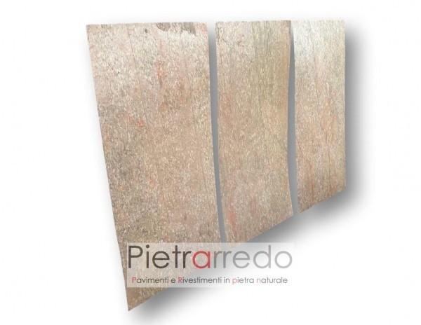 Rivestimento pietra foglio flessibile golden prezzi stock offerte facciate pareti camini cinte interni esterni costi