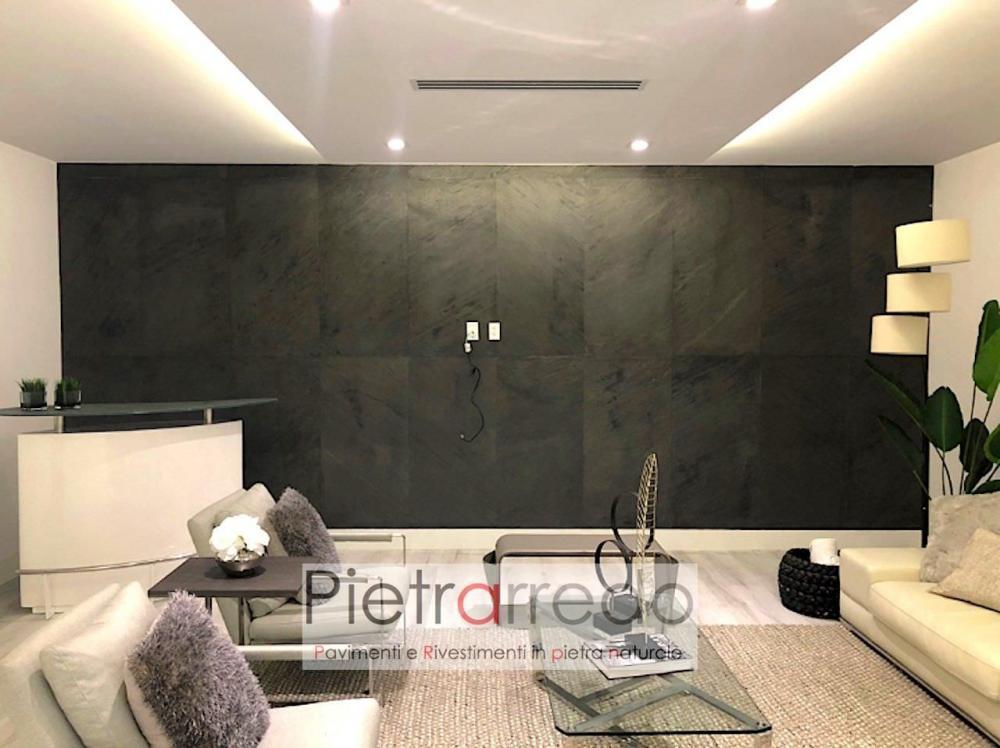 architettura design pietra nera per muri stone flex flessibile sottile offerta pietrarredo