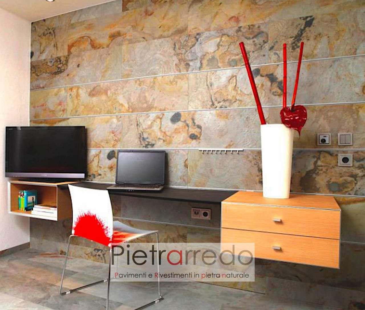 costi e offerta lastre e fogli in pietra tonda sottile da incollare alle pareti muri facciate