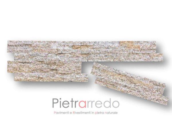 costo-rivestimento-pietra-pietrarredo-quarzite-dorè-listelli-pannelli-offerta-milano