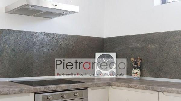 cucina rivestimento parete foglio sottile pietra ardesia green silver costi prezzo pietrarredo