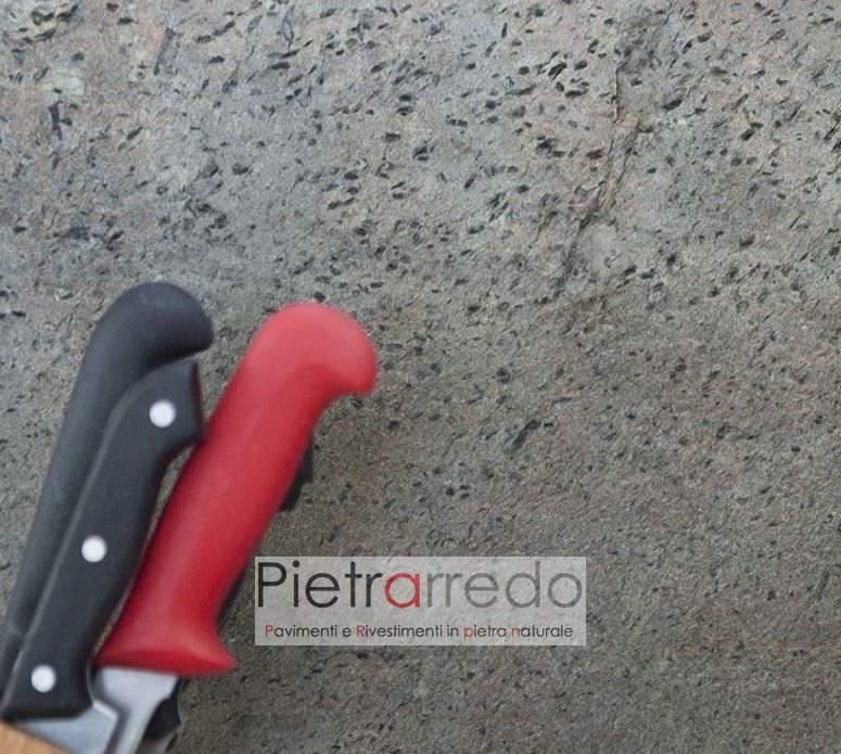 cucina rivestita con foglio pietra mobili radica formica ardesia costi prezzo pietrarredo milano
