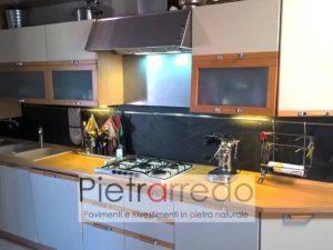 foglio flessibile sottile pietra naturale cucina prezzi costi pietrarredo milano radica black ardesia nera