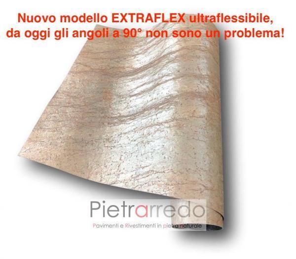 lastra sottile in pietra ntaurale flessibile tonda radica prezzi copper pietrarredo milano
