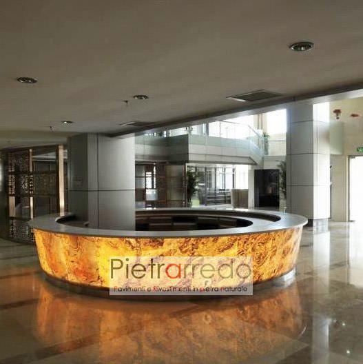 offerta foglio flessibile traslucido in pietra naturale sottile trasparente onice prezzi pietrarredo milano