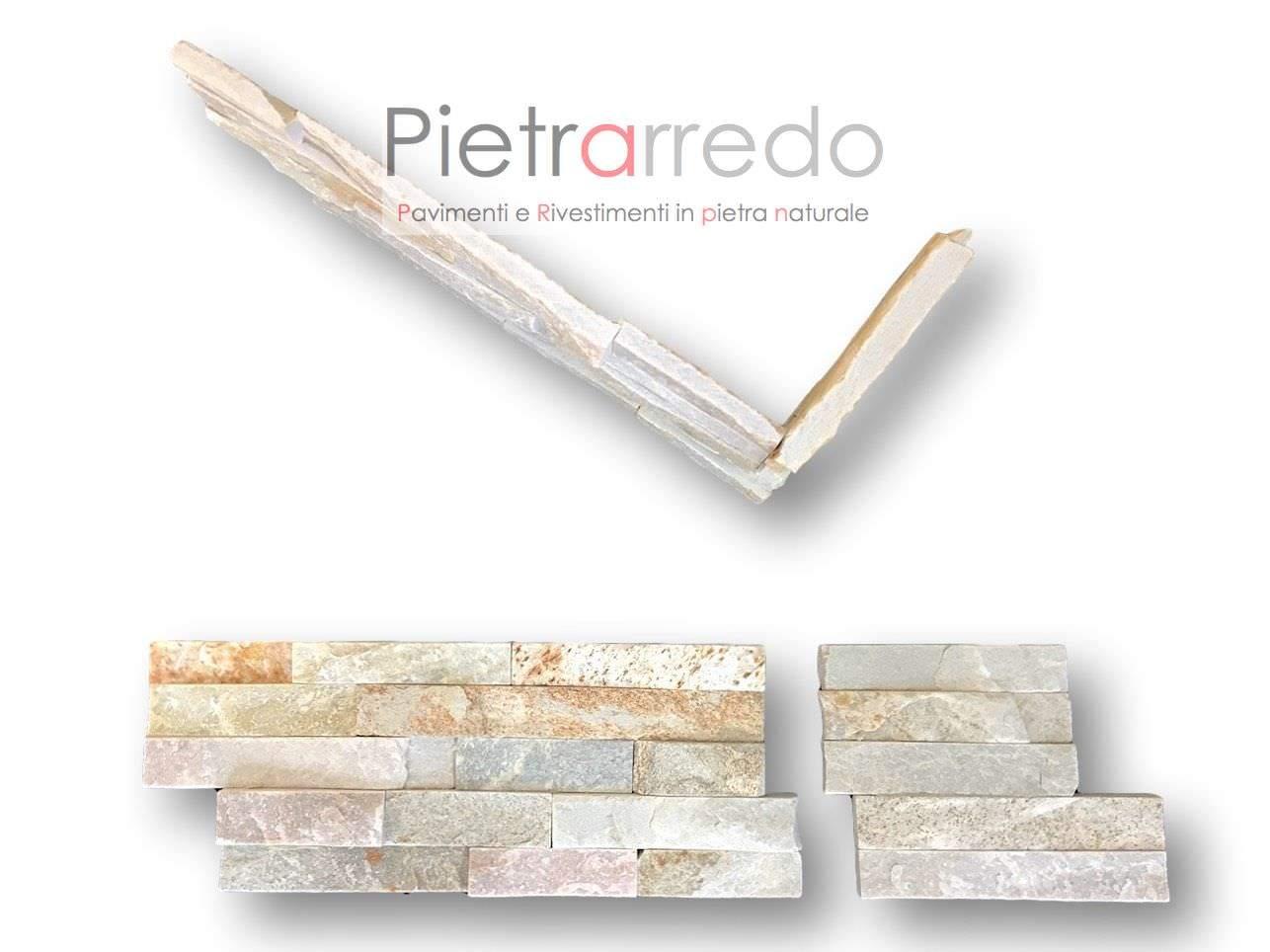 Angoli rivestimento pietra quarzite mista in offerta 37 ml for Costo per costruire pilastri di pietra