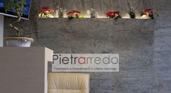 parete rivestita con fogli flessibile sottili green ardesia