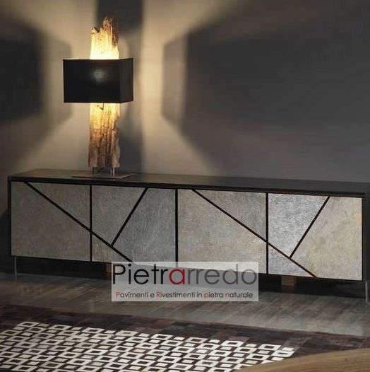 pietra flessibile sottile per mobili radica ardesia grigia pietrarredo milano costi