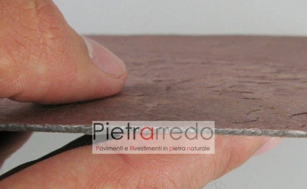 pietra sottile slate lite flexstone flessibile ardesia arenaria costi prezzi pietrarredo milano