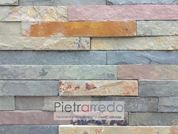 prezzo-rivestimento-pietra-ardesia multicolor-spaccatelli-listelli-scaglia-geo-stone-cladding-rush-price-panel-naturale-prezzo